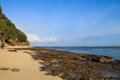 Low tide on Greenball beach Royalty Free Stock Photography