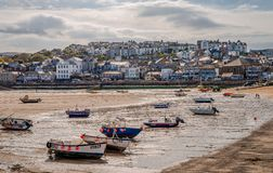 Low tide at Harbour Beach, St. Ives. stock photos