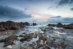 Low Tide at Hemmick Beach in Cornwall Royalty Free Stock Photo