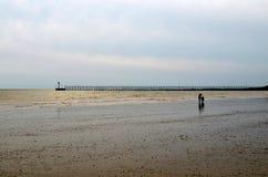 Low tide. On Littlehampton beach Royalty Free Stock Image