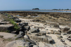 Low Tide Locmariaquer, Brittany, France Stock Photo