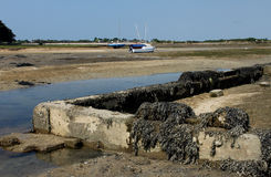 Low Tide Locmariaquer, Brittany, France Stock Images
