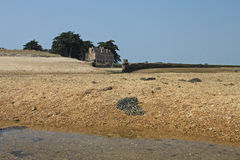 Low Tide Locmariaquer, Brittany, France Royalty Free Stock Photography