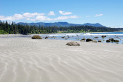 Low tide on the Long Beach. Vancouver Island, Canada Stock Photo
