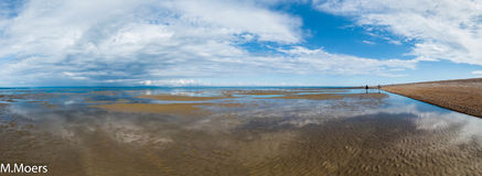 Low tide, Lydd-on-Sea, Romney Bay, Kent (UK) Royalty Free Stock Photography