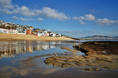 Low Tide ~ Lyme Regis Royalty Free Stock Photo