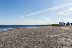 Low Tide Matane coast view of Saint Lawrence River at summer Royalty Free Stock Photography