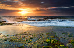 Low tide at Narrabeen Stock Images