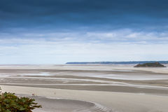 Low tide in Normandy, France. Stock Photography