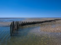 Low tide in the North Sea stock photo
