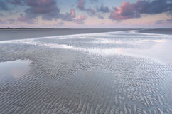 Low tide on North sea beach Royalty Free Stock Images