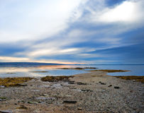Low tide on Penobscot Bay. View of low tide at Penobscot Bay in Searsport, Maine royalty free stock images