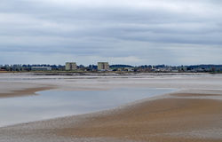 Low Tide In The River Severn Looking Across To Berkley Nuclear Power Station Royalty Free Stock Photo