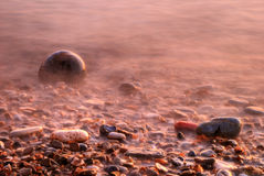 Low tide on a rocky beach Royalty Free Stock Image