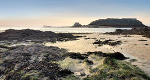 Low tide at saint malo Stock Image