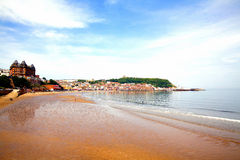 Low tide Scarborough, North Yorkshire. Royalty Free Stock Image