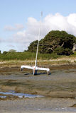 Low tide sea. In Cote d'Armor in Brittany in west of France Royalty Free Stock Photo