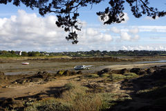 Low tide sea. In Cote d'Armor in Brittany in west of France Stock Image