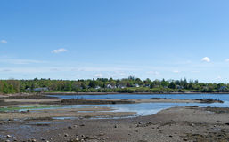 Low tide at Searsport Maine Royalty Free Stock Images