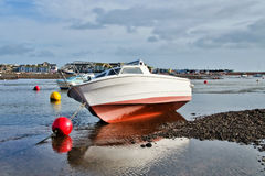 Low Tide At Shaldon Harbour Stock Photos