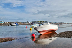 Low Tide At Shaldon Harbour Royalty Free Stock Images
