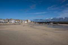 Low tide in St Ives harbour Royalty Free Stock Photo