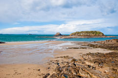 Low tide in St-Malo, France Royalty Free Stock Photo