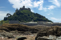 Low Tide at St Michaels Mount Royalty Free Stock Photos