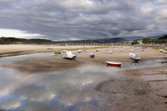 Low tide in St. Vicente de la Barquera (Northern S Stock Image