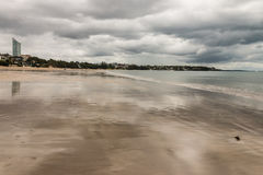 Low tide at Takapuna beach Stock Images