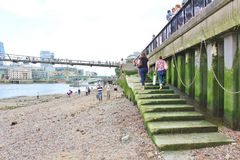 Low tide in the Thames Royalty Free Stock Photo