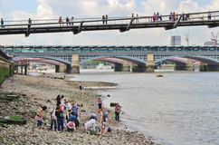 Low tide in the Thames Royalty Free Stock Image