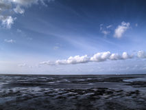 Low tide tideland Royalty Free Stock Photo