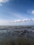 Low tide tideland Royalty Free Stock Images