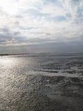 Low tide tideland Stock Photo