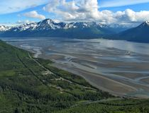 Low tide in Turnagain arm Royalty Free Stock Photography