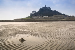 Low tide views of St Michael's Mount Marazion Stock Photos
