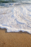 Low tide. Wave sand time Stock Image