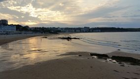 Low tide royalty free stock photos