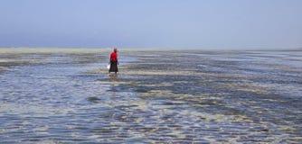 Low tide in Zanzibar Stock Image