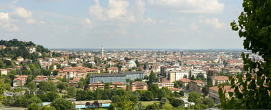 Low town cityscape, Bergamo Royalty Free Stock Image
