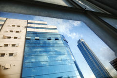 Office Buildings Through Window Royalty Free Stock Images
