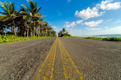 Low View of Coastal Road Royalty Free Stock Photos