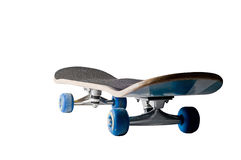Low view of a grungy skateboard Stock Photography