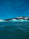 Low view of ice bergs on a glacial lagoon Stock Photo