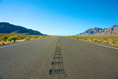 Low View of Long Road Stock Image