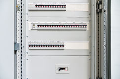 Low-voltage cabinet for power and distribution electricity royalty free stock image