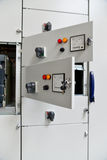 Low-voltage cabinet for power and distribution electricity Stock Photography