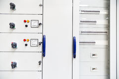 Low-voltage cabinet for power and distribution electricity Stock Photos