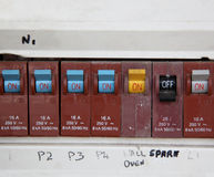 Low voltage circuit breaker Stock Images
